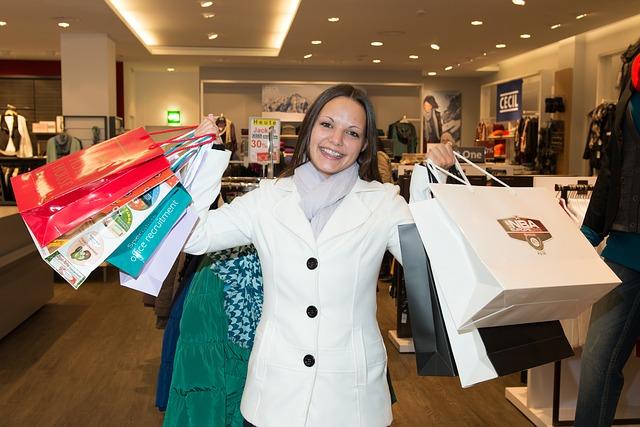 nakupování s úsměvem