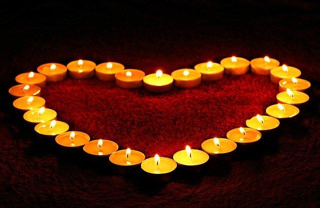 srdce ze svíček